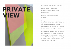 Trudie Moore New Works Private View